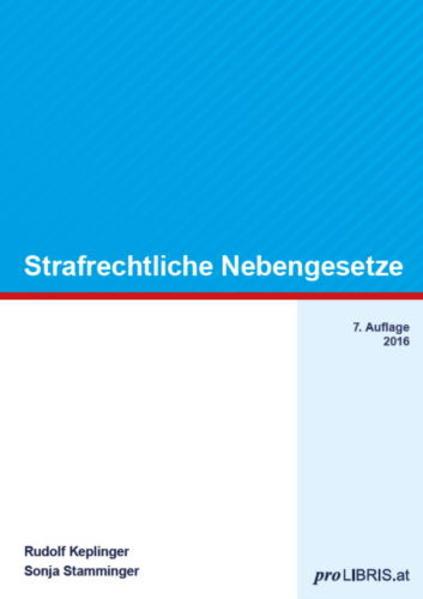 Strafrechtliche Nebengesetze - Coverbild