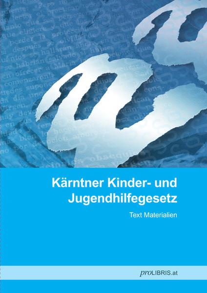 Kärntner Kinder- und Jugendhilfegesetz - Coverbild