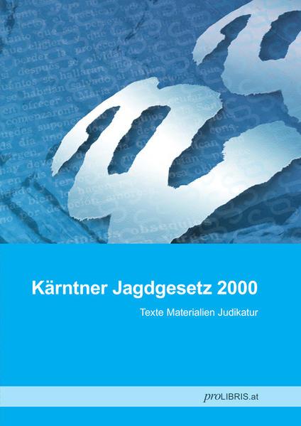 Kärntner Jagdgesetz 2000 - Coverbild