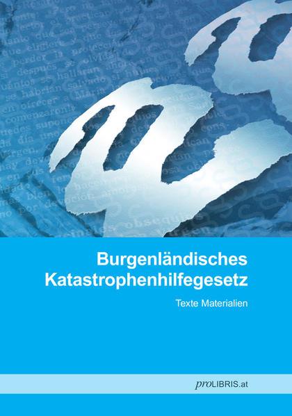 Burgenländisches Katastrophenhilfegesetz - Coverbild