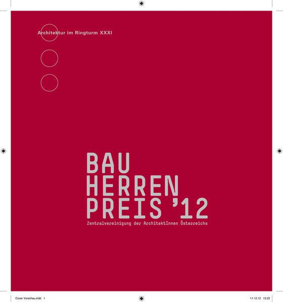Bauherrenpreis 2012 - Coverbild