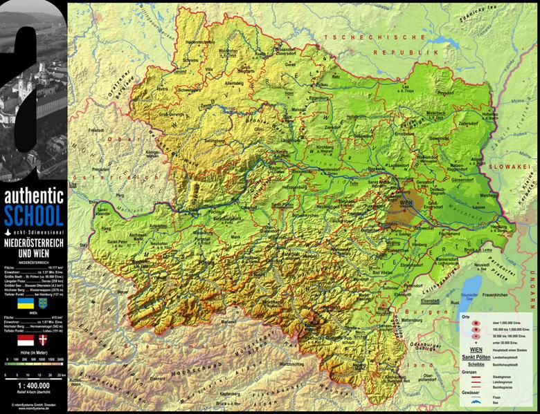 3-D-Landkarte Niederösterreich - Coverbild