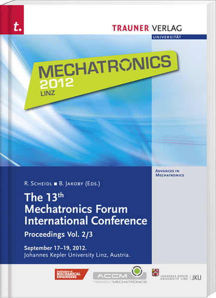 The 13th Mechatronics Forum International Conference - Coverbild