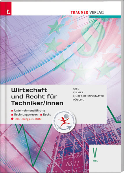 Wirtschaft und Recht für Techniker/innen V HTL inkl. Übungs-CD-ROM - Coverbild