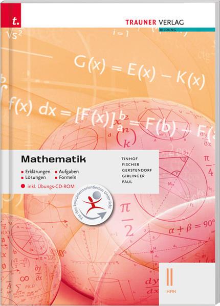 Mathematik II HAK inkl. Übungs-CD-ROM - Erklärungen, Aufgaben, Lösungen, Formeln - Coverbild