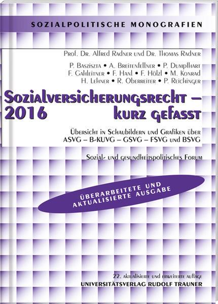 Sozialversicherungsrecht 2016  - Coverbild