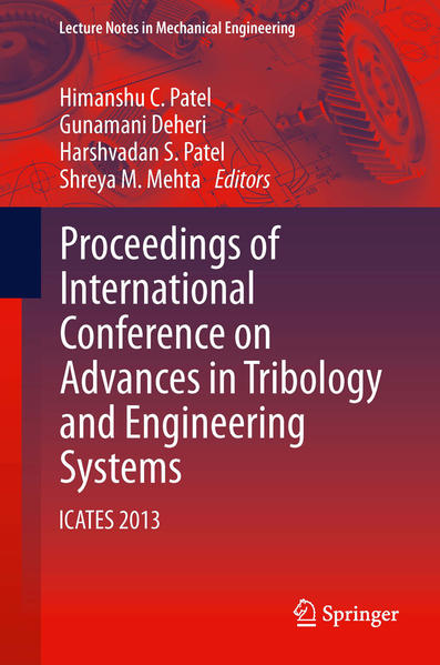 Proceedings of International Conference on Advances in Tribology and Engineering Systems - Coverbild