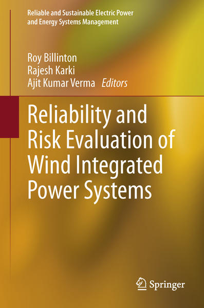 Reliability and Risk Evaluation of Wind Integrated Power Systems - Coverbild