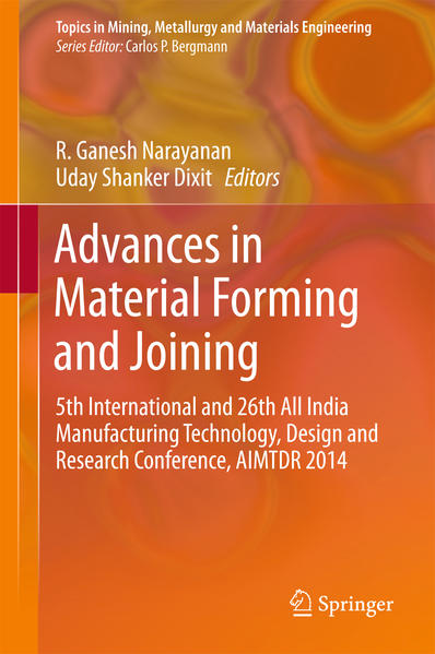 Advances in Material Forming and Joining - Coverbild