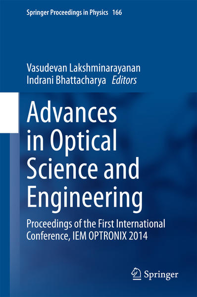 Advances in Optical Science and Engineering - Coverbild