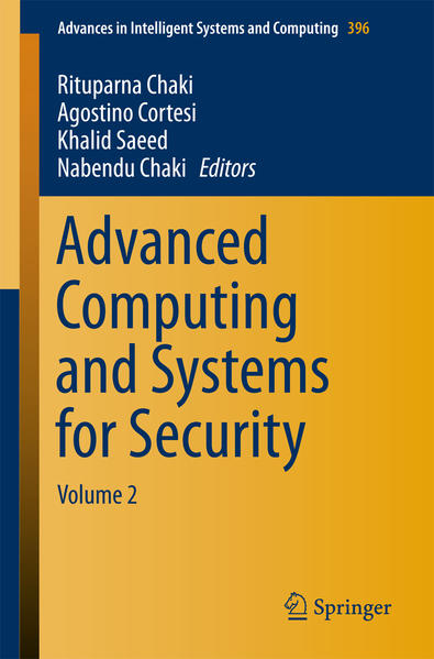 Advanced Computing and Systems for Security - Coverbild