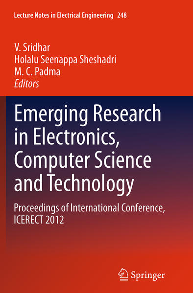 Emerging Research in Electronics, Computer Science and Technology - Coverbild