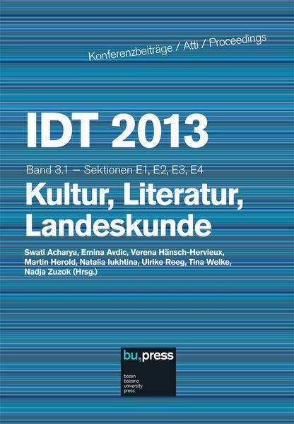 IDT 2013 Band 3.1 - Kultur, Literatur, Landeskunde - Coverbild