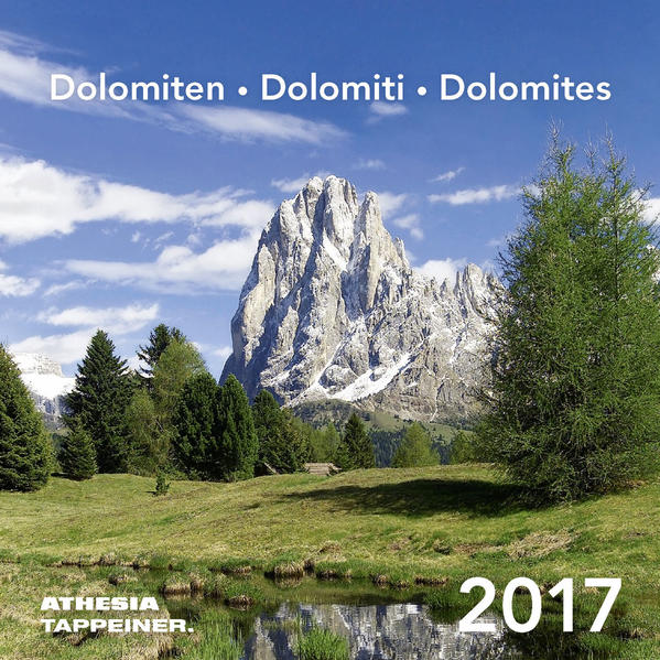 Postkartenkalender Dolomiten 2017 - Coverbild