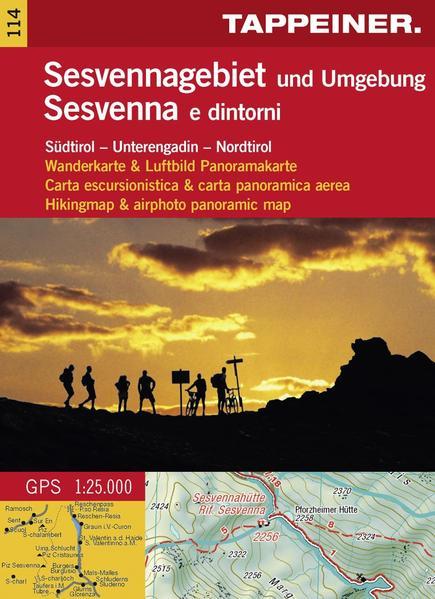 Wanderkarte Sesvenna und Umgebung - Coverbild