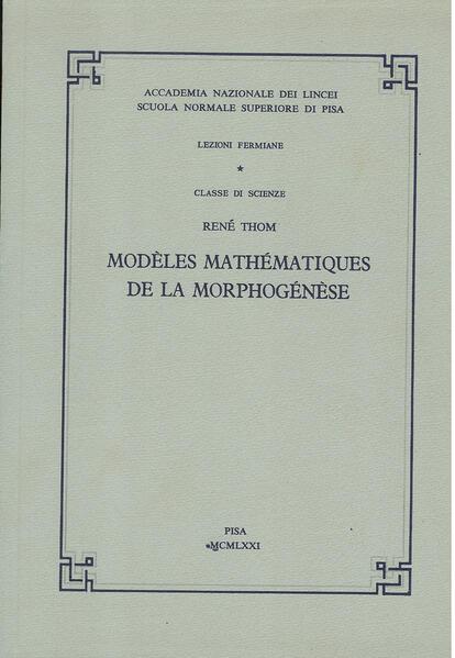Modèles mathématiques de la morphogénèse - Coverbild
