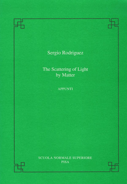 The scattering of light by matter - Coverbild