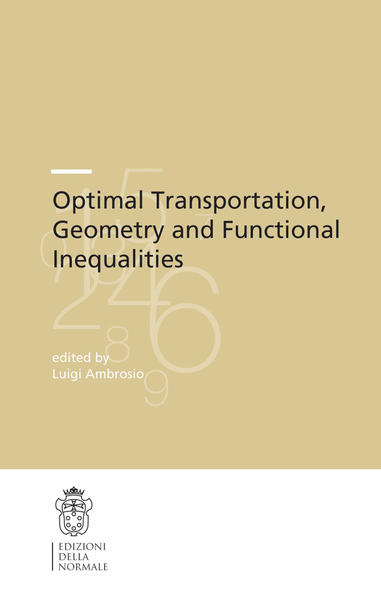 Optimal Transportation, Geometry and Functional Inequalities - Coverbild