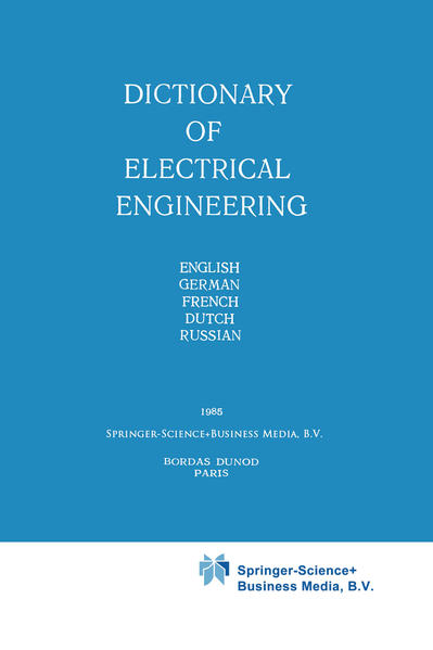 Dictionary of Electrical Engineering - Coverbild
