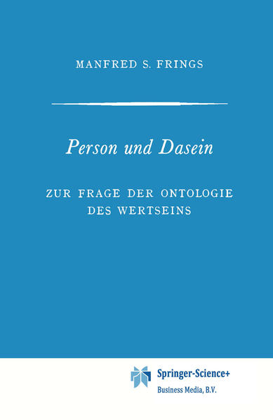 Person und Dasein - Coverbild