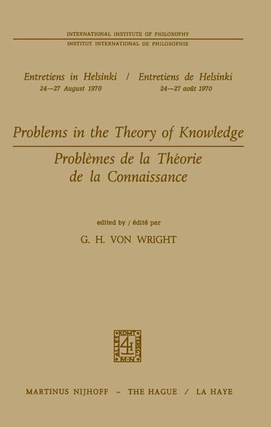 Problems in the Theory of Knowledge / Problèmes de la théorie de la connaissance - Coverbild