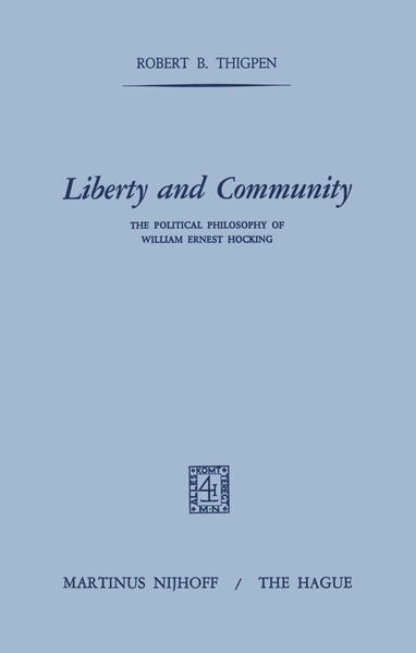 Liberty and Community - Coverbild
