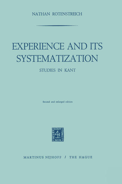 Experience and its Systematization - Coverbild