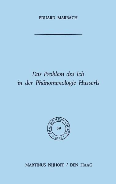 Das Problem des Ich in der Phänomenologie Husserls - Coverbild