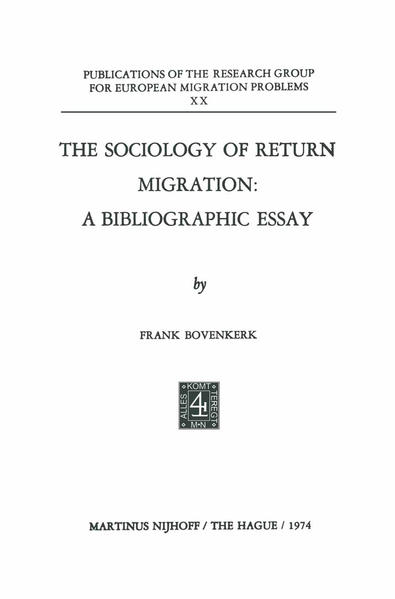 The Sociology of Return Migration: A Bibliographic Essay - Coverbild