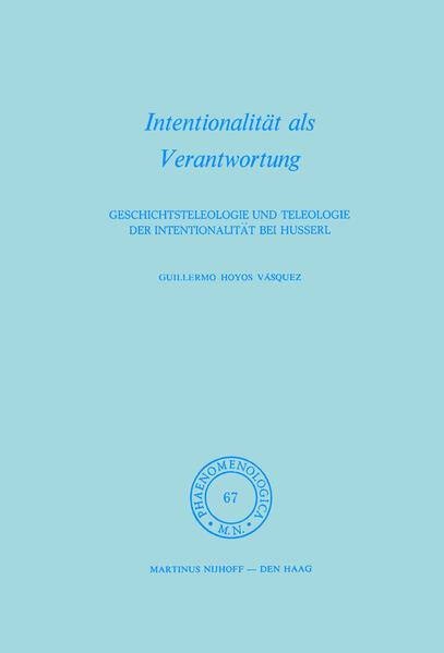 Intentionalität als Verantwortung - Coverbild