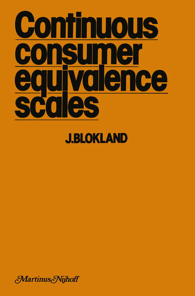 Continuous Consumer Equivalence Scales - Coverbild