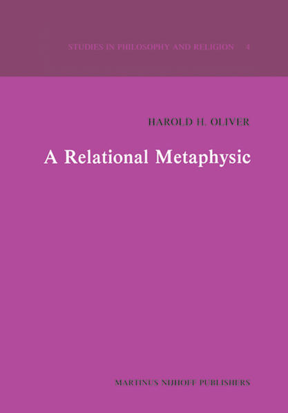 A Relational Metaphysic - Coverbild
