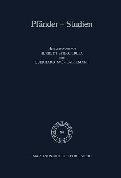 Pfänder-Studien - Coverbild