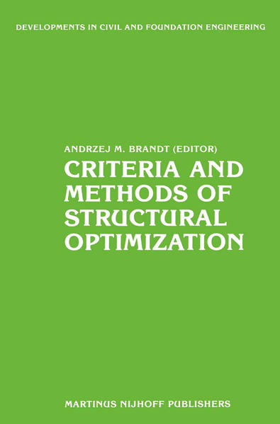 Criteria and Methods of Structural Optimization - Coverbild
