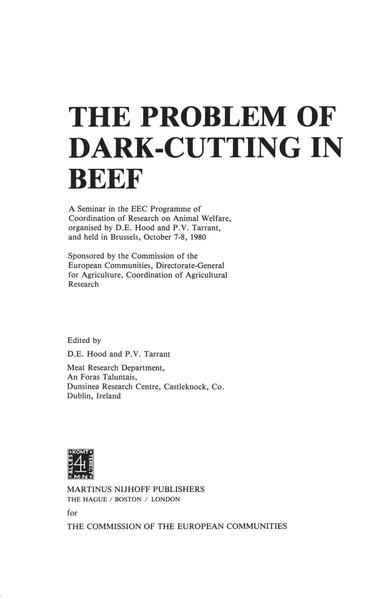 The Problem of Dark-Cutting in Beef - Coverbild