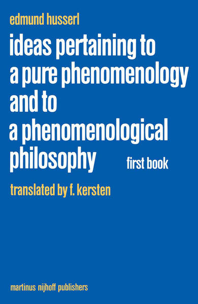 Ideas Pertaining to a Pure Phenomenology and to a Phenomenological Philosophy - Coverbild