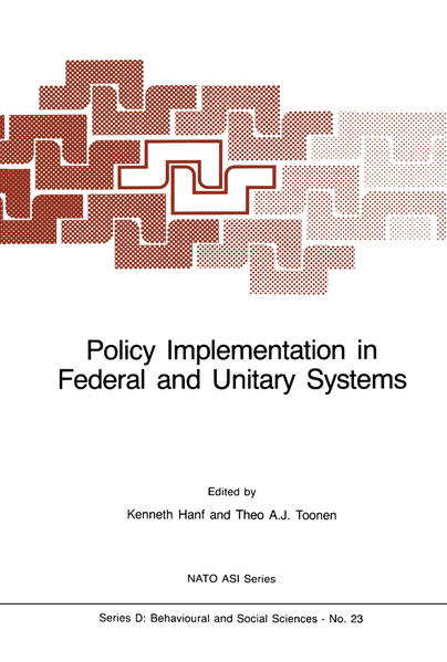 Policy Implementation in Federal and Unitary Systems - Coverbild