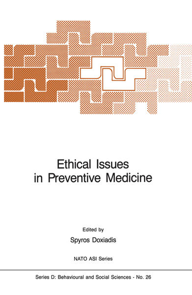 Ethical Issues in Preventive Medicine - Coverbild