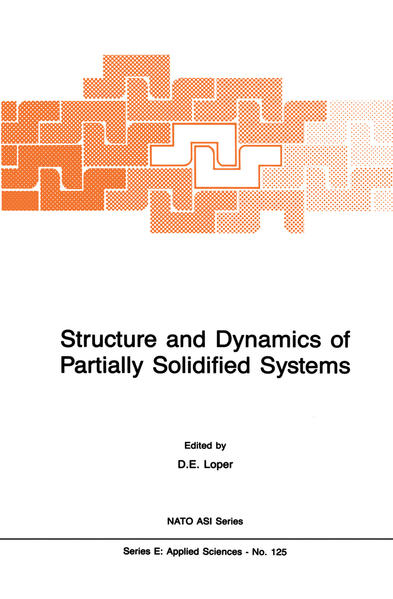 Structure and Dynamics of Partially Solidified Systems - Coverbild