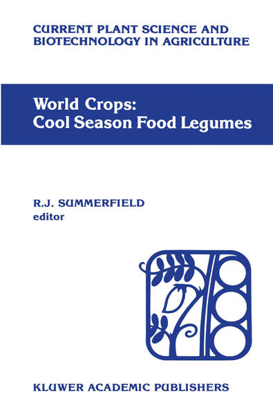 World crops: Cool season food legumes - Coverbild
