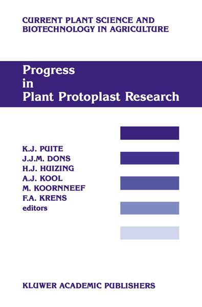 Progress in Plant Protoplast Research - Coverbild