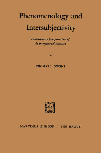 Phenomenology and Intersubjectivity - Coverbild