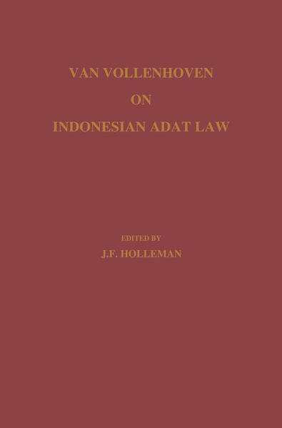 Van Vollenhoven on Indonesian Adat Law - Coverbild