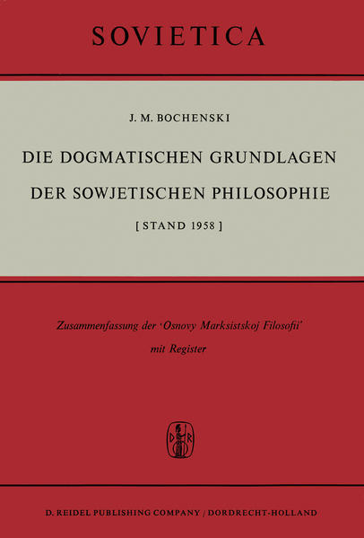 Die Dogmatischen Grundlagen der Sowjetischen Philosophie - Coverbild