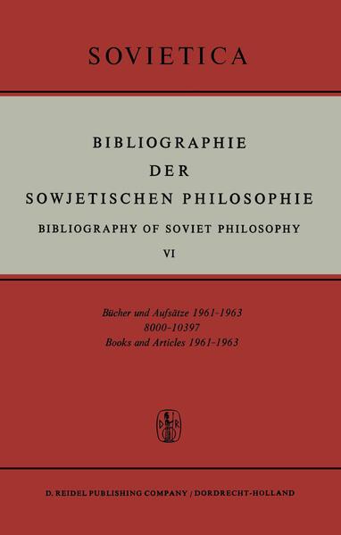 Bibliographie der Sowjetischen Philosophie - Coverbild