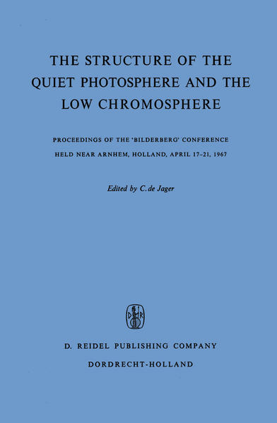 The Structure of the Quiet Photosphere and the Low Chromosphere - Coverbild