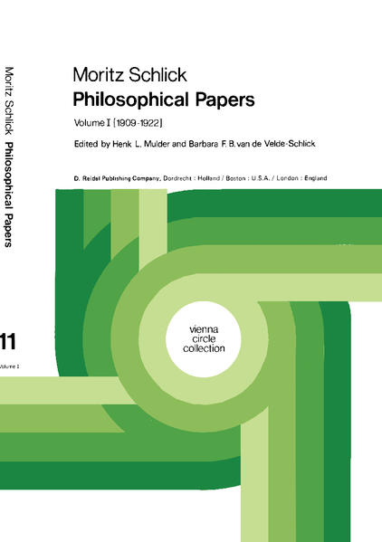 Moritz Schlick Philosophical Papers - Coverbild