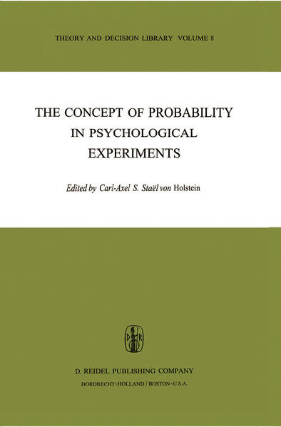 The Concept of Probability in Psychological Experiments - Coverbild