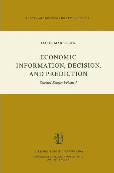 Economic Information, Decision, and Prediction - Coverbild