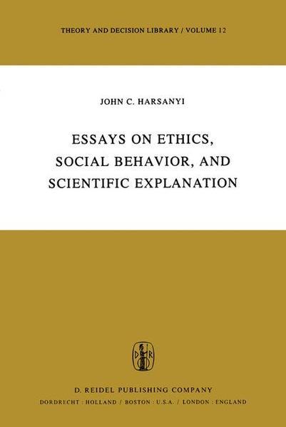 Essays on Ethics, Social Behaviour, and Scientific Explanation - Coverbild